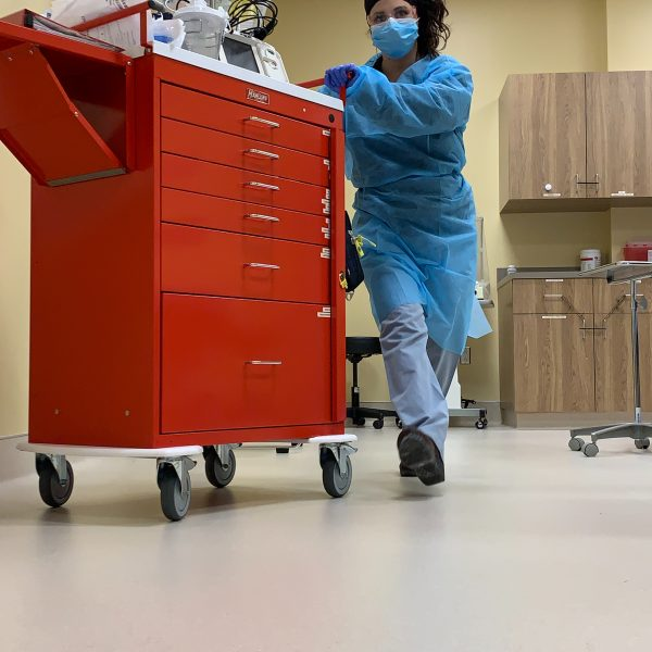 Trauma nurses work
